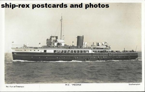 MEDINA (1931, Red Funnel) postcard